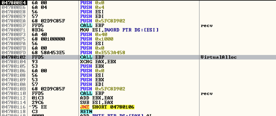 Figure 15: Metasploit framework Reverse TCP connection