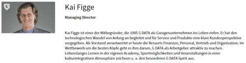 Screenshot der Informationen über Kai Figge auf G DATAs Homepage
