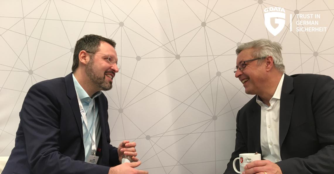 Dr. Tilman Frosch (links) und Michael Zimmer (rechts) von G DATA Advanced Analytics