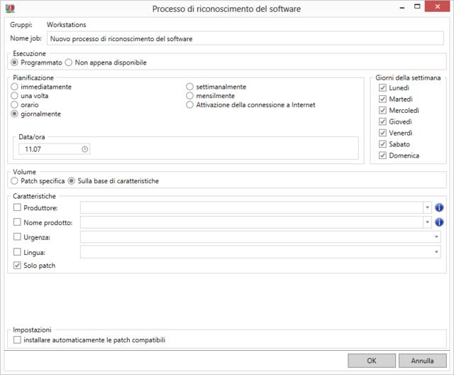 Processo di riconoscimento del software