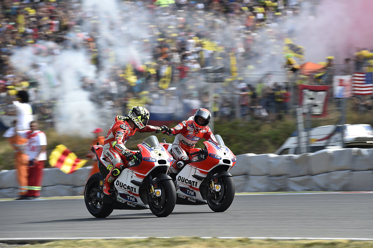 Winning streak: Iannone and Dovizioso after the race
