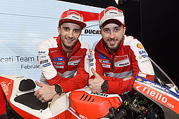 Drivers of the Ducati racing team