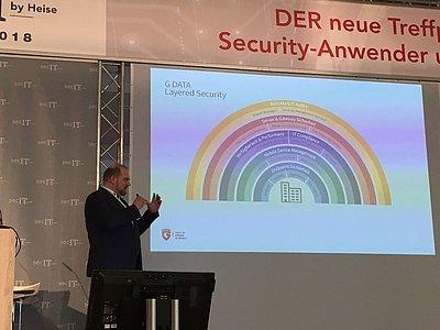 Matthias Koll erklärt das G DATA Layered Security-Konzept