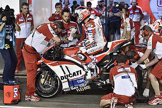 Ducati Motorcycle in the workshop