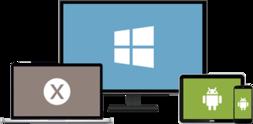 Bild mit Windows, Mac und Android Gerät