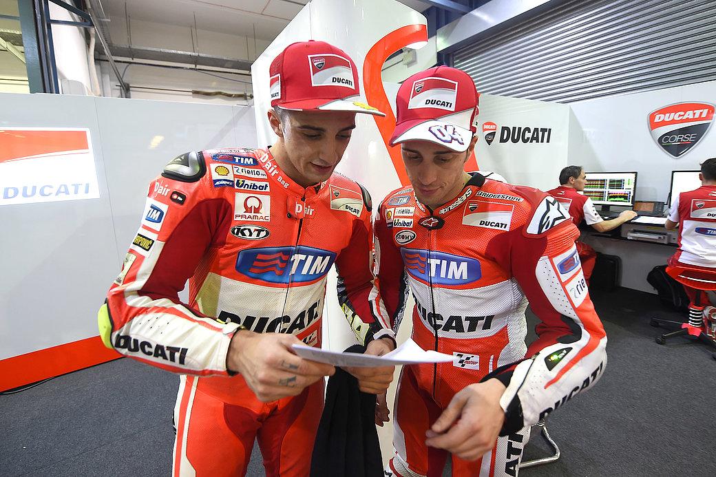 The two drivers Andrea Iannone and Andrea Dovizioso