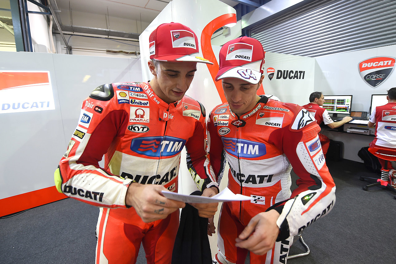 The two drivers Andrea Iannone and Andrea Dovizioso