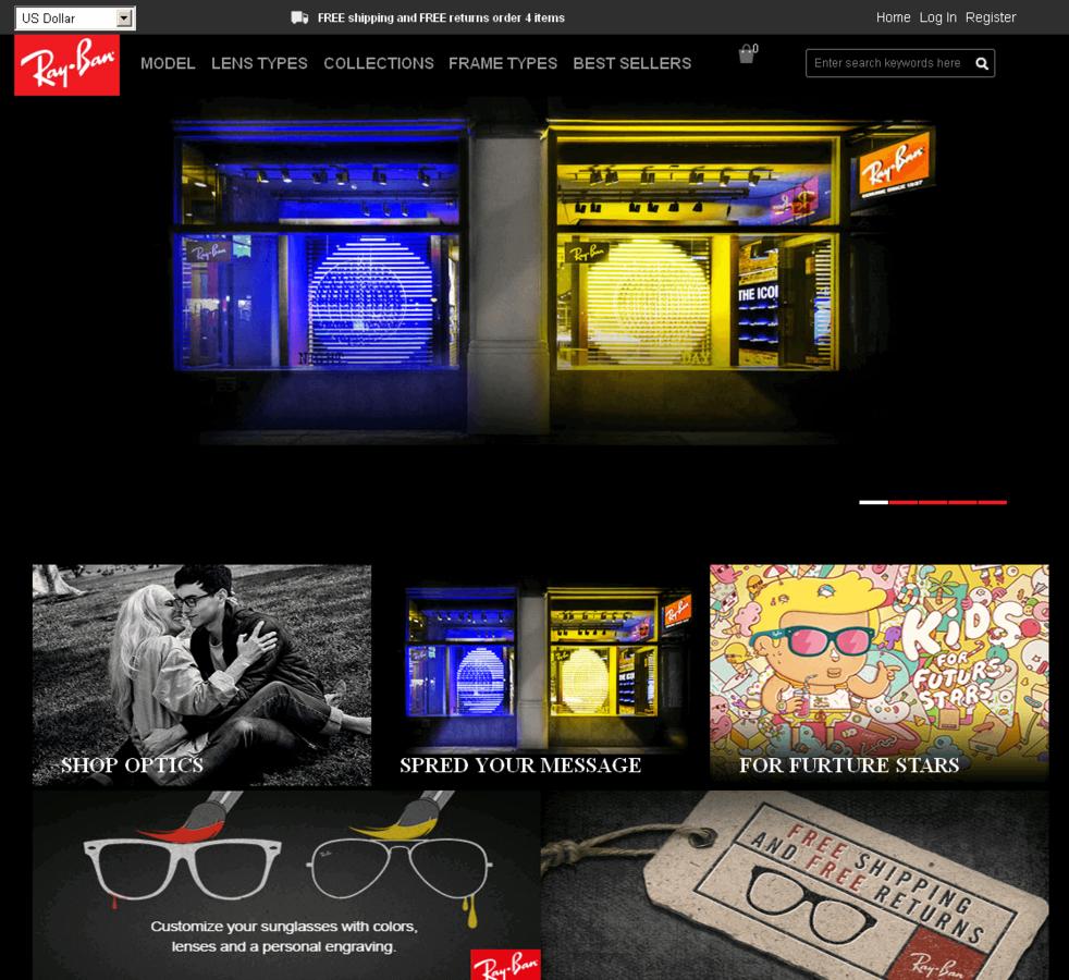 ray ban website model number  screenshot of a ray ban shop copy