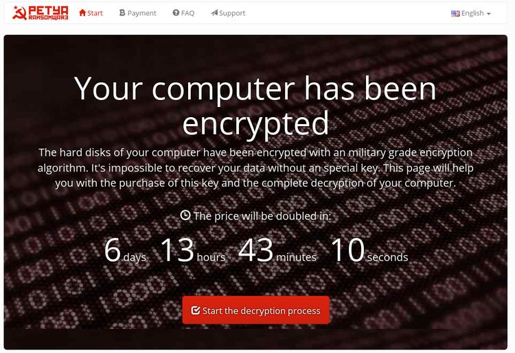 Petya - Ransom Site