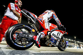 Ducati Motorcycle in pole position