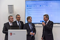 CeBIT 2016: EU commissioner Günther Oettinger launches security solution in the German Cloud