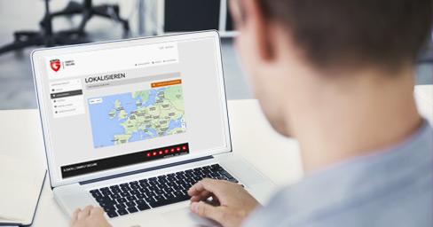 Ein G DATA Kunde nutzt die Online-Plattform zum Orten seines Smartphones.