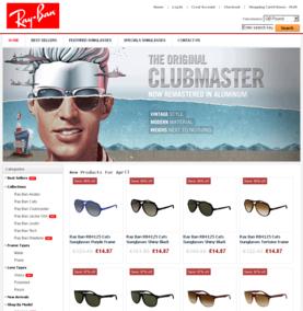 Screenshot of a Ray-Ban shop copy