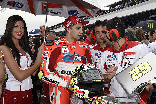 Andrea Iannone in the pit lane