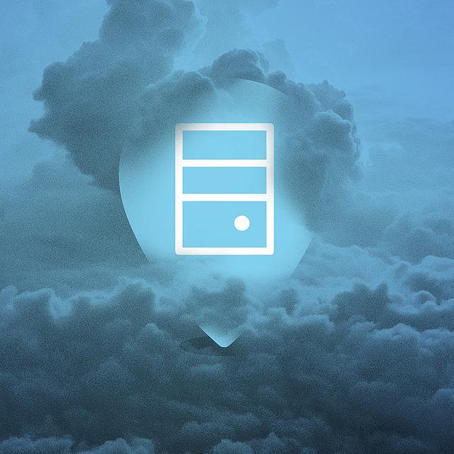 Der Datenspeicher in den Wolken.