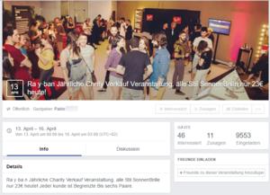 Screenshot of a dubious Facebook event