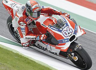Ducati machine in a race
