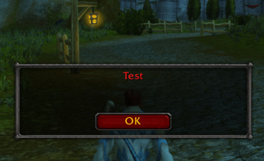 "Screenshot: The result of this PoC is a text box with the word ""Test"""