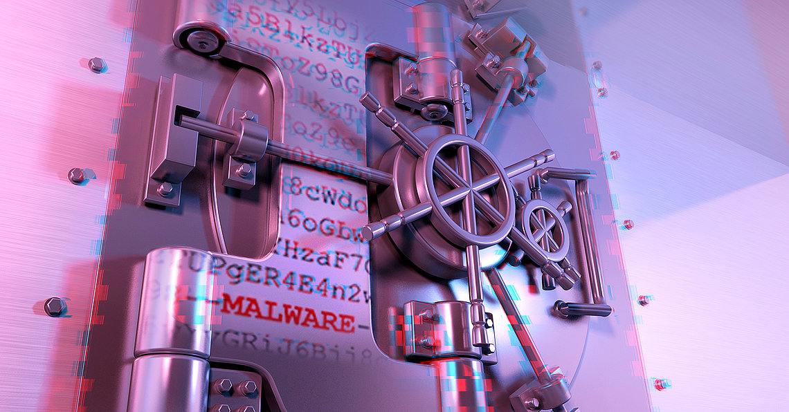 A vault with Malware (Symbolic picture)