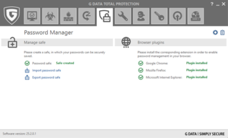 0 G DATA has a Password Manager in the new version of Total Protection.