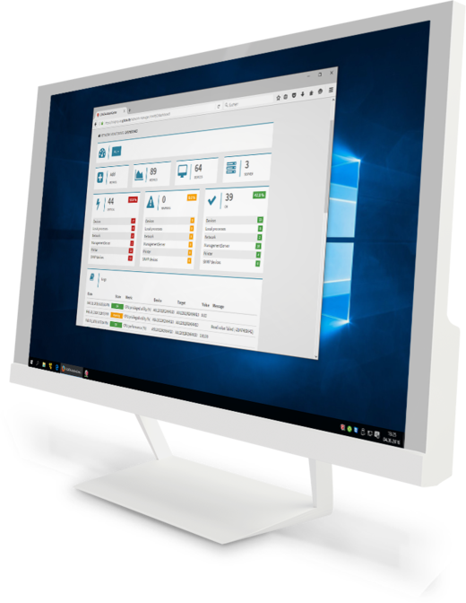 G DATA Action Center: la schermata su un monitor