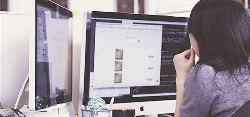 Arbeit am iMac