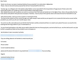 """The email from the alleged """"Lt. Ferrara"""""""