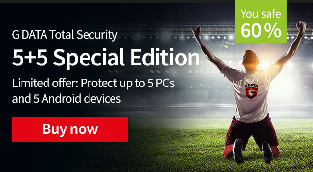 Limited offer: Protect up to 5 PCs and 5 Android devices