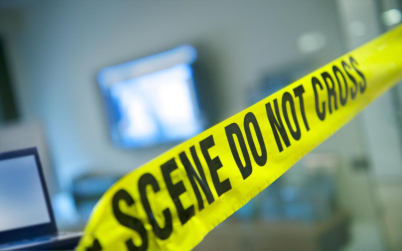 Bild: Absperrband der Polizei nach einem Cyber-Angriff